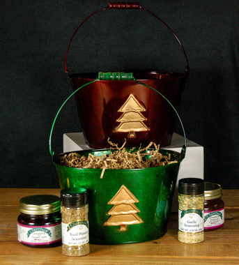 Cherchies Green Holiday Classic Gift Bucket