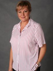 LSJ Freedom Stripe Short Sleeved East Fit White/Cherry Shirt