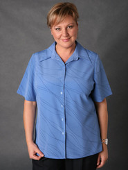 LSJ Freedom Waves Blue/Navy Easy Fit Shirt