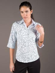LSJ Freedom Breeze 3/4 Sleeve White/AquaShirt
