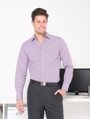 Mens Long Sleeve Lonsdale Plum Check Shirt