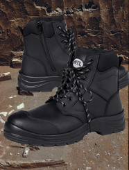 "Safety Boot with 5"" Zip"