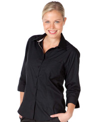 JB's Wear Ladies 3/4 Sleeved Contrast Placket Shirt