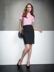 Ladies Chevron Wool Blend Skirt