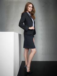 Ladies Multi Pleat Wool Blend Skirt