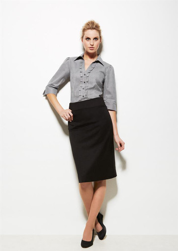 Ladies Relaxed Fit Cool Stretch Plain Lined Skirt