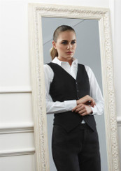 Ladies Cool Stretch Plain Peaked Vest with Knitted Back