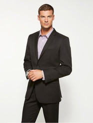 Mens Cool Stretch Plain Slimline 2 Button Jacket