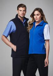 Biz Collection Plain Microfleece Mens Vest
