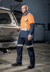 Day/Night Mens Shoulder Tape Industrial Shirt