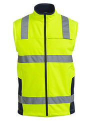 Taped Hi Vis Yellow Soft Shell Vest