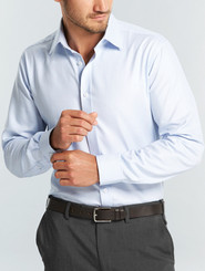 Gloweave Mens L/S Micro Step Textured Plain Shirt