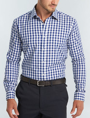 Gloweave Mens L/S Royal Oxford Gingham Shirt