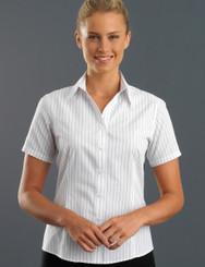 John Kevin Women's Short Sleeve Classic Stripe