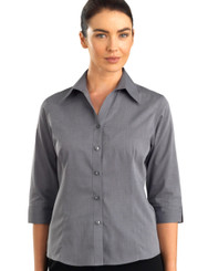 John Kevin Women's 3/4 Sleeve Chambray