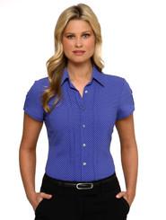 City Stretch Spot Cap Sleeve Shirt