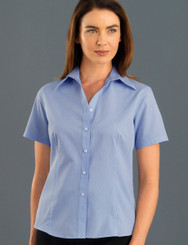 John Kevin Women's Short Sleeve Soft Stripe