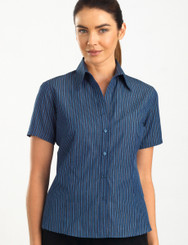 John Kevin Women's Short Sleeve Bold Stripe