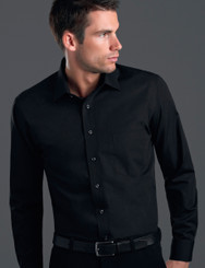 John Kevin Mens Long Sleeve Poplin Shirt