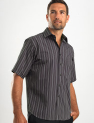 John Kevin Mens Short Sleeve Multi Stripe