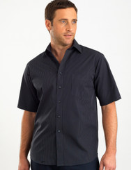 John Kevin Mens Short Sleeve Dark Stripe Shirt