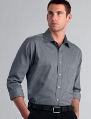 John Kevin Mens Long Sleeve Pin Stripe Shirt