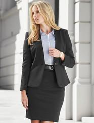 Ladies Single Button Collarless Jacket