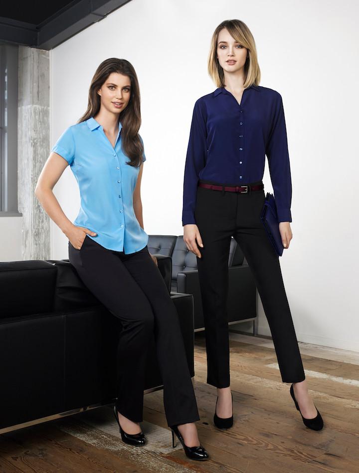 a9390ff1ae6 Solanda Ladies Plain Short Sleeve Shirt