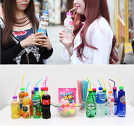 Drink Punch XO Lid, Pre Punched Plastic Bottle Lid for Straw