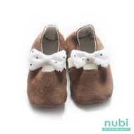 baby girl ballet shoes with polkadot bow