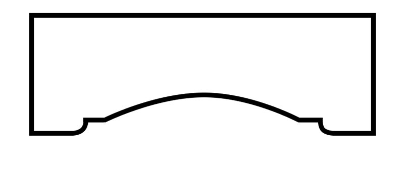 Cornice Style: Step Arch #4
