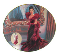 "Numbered ""Gone With the Wind"" collector plate ""The Red Dress"""