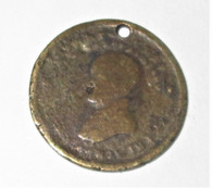 Henry Clay Hard Times token, dug at Vicksburg