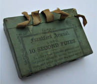 """Original Package of Frankford Arsenal Artillery Fuses """"1863"""""""
