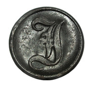 "Confederate Infantry ""I"" button, Bentonville, NC"