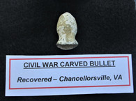 Soldier-carved bullet found at Chancellorsville