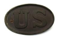U.S. Cartridge Box Plate from Hazel Run, Fredericksburg