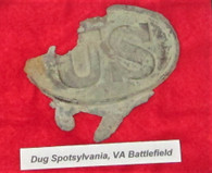 "Very Interesting ""U.S."" Melted Plate, Spotsylvania"