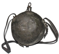 U.S. Model 1858 Smooth-side Canteen with cork, chain and leather strap