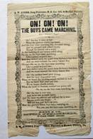 "Civil War Song Sheet on returning soldiers, ""Prisoner's Hope"""