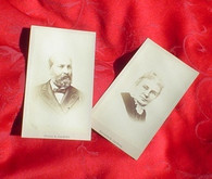 CDV Images of President Garfield and wife