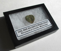 Civil War Soldier's Brass Heart from Corinth Battlefield