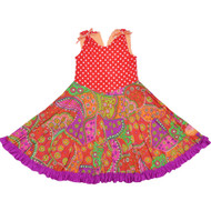 Prancing Pocket Whirly Dress | Secret Scarlet Garden