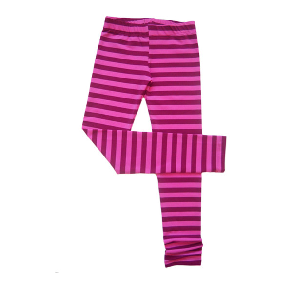 Twirly Girl Fuchsia Striped Leggings for Girls Soft 2 Tone Fall ...