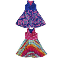 Reversible Twirly Racer Dress | Sweet Rainbow Shine