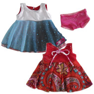 Original Reversible Twirly Doll Dress | Snow Ice Princess