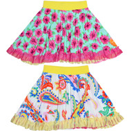 Original Reversible Twirly Ruffle Skirt | Twinkly City Garden