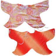 Transform-A-Dress Reversible Fabric Wings | Sparkly Orange Fairy