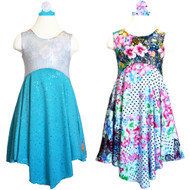 Enchanting Reversible Tea Party Dress | Alice's Sparkly Day Dance