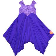 Twirly Graceful Joy Dress | Purple Sky